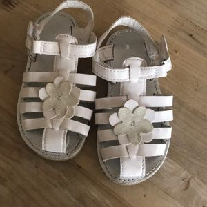 Carters 8T white sandals